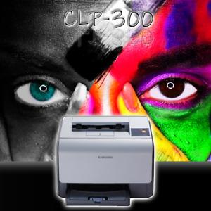 SAMSUNG Farblaserdrucker CLP-300 ohne Toner