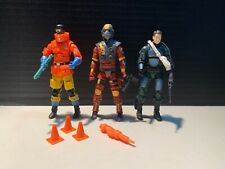 Lot of 3 Modern GI Joe Figures Doc Charbroil Flash