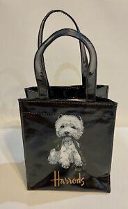 Harrods London Westie Terrier Dog Vinyl Waterproof Reusable Tote Gift Bag