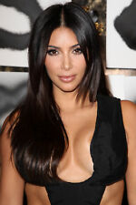 GLOSSY PHOTO PICTURE 8x10 Kim Kardashian Black Hair
