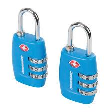 2 cadenas à bagages homologués TSA, reconnu aéroports et douanes internationales