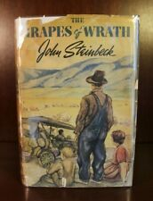 John Steinbeck The Grapes of Wrath 1st Edition 1939 1st Printing DJ Pulitzer