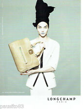 PUBLICITE ADVERTISING  046  2010  Longchamp pret à porter sac Gatsby