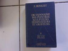 Dictionnaire des peintres sculpteurs dessinateurs et graveurs  tome 6 BENEZIT