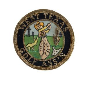 Vintage West Texas Golf Ass'n Western Theme Patch Cowboy Golf Oil Derrick 1950's