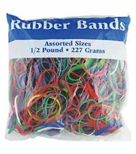 BAZIC 465 Multicolor Rubber Bands for School, Home, or Office (Assorted Dimen...
