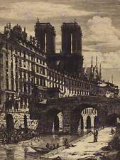 CHARLES MERYON FRENCH LE PETIT PONT PARIS OLD ART PAINTING POSTER BB5092B
