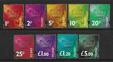 SGD102-D110 Set of 9 UNMOUNTED MINT Postage Due stamps.