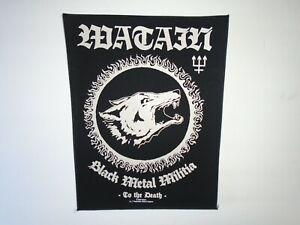 WATAIN BLACK METAL MILITIA PRINTED BACK PATCH