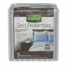 Depend Bed Protectors Overnight Absorbency 9 Count