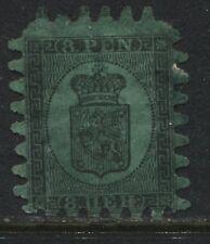Finland 1867 8 pennia black on green unused no gum. (JD)
