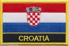 Croatia Flag Embroidered Patch Badge - Sew or Iron on