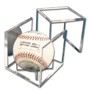1x PRO-MOLD Baseball Display Cube III with Stand - Crystal Clear - PCBSQUAREIII