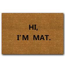 """Funny Door Mat """"HI I'M MAT""""Rubber Floor Mat Doormat"""