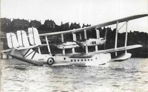 Short Singapore Flying Boat K3593 Royal Air Force Unused 1930s RP Postcard