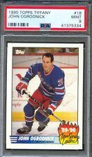 1990 Topps Tiffany Scoring Leaders #18 JOHN OGRODNICK New York Rangers PSA 9