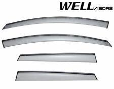 For 09-14 Nissan Murano WellVisors Side Window Visors Deflectors W/ Black Trim