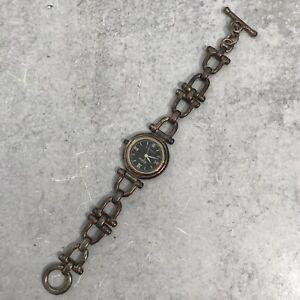 VTG ECCLISSI Facets Sterling Silver Equestrian Style Bracelet Wrist Watch