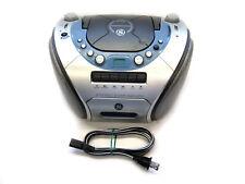 Vtg General Electric Boombox 3-7121 Cassette & CD Ghetto Blaster GE Am/Fm Radio