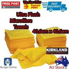 Ultra Soft Plush Microfibre Glass Cloth Car Cleaning Drying Wipe Towels 41x 41cm