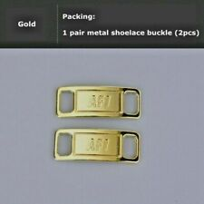 Nike AF1 Replacement Lace Tags Shoe badge Air Force Ones Gold Dubraes ⚡️ BEST
