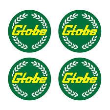 GLOBE BATHURST MAG WHEEL CENTRES GREEN & GOLD  GLOBE MAG WHEEL STICKERS