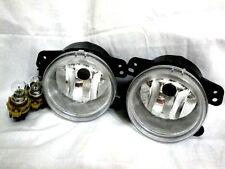 Fit 2011 Charger Grand Cherokee Driving Fog Light Lamp w/2 LightBulb RL One Pair