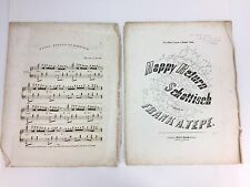 Schottisch Antique Piano Sheet Music Vtg 1854 Happy Return Frank Tepe Baltimore