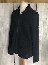 Superdry Regiment Dark Blue Cotton Zip Up Jacket With Pockets XXL