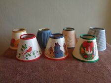 "Lot of 7 Different Small Lamp Shade Shades Approx 5"" diameter bottom B8"