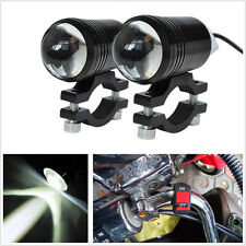 2 Pcs DC12V CREE U1 Lens Motorcycle ATV LED Headlight Driving Spot Lamp & Switch