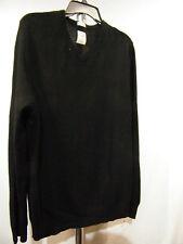 ARTICLE 365 Mens Black Cashmere V-Neck Sweater - Sz L