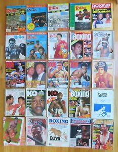 24 Different BOXING Magazines MUHAMMAD ALI GEORGE FOREMAN MARVIN HAGLER LEONARD