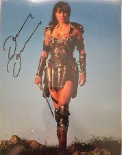LUCY LAWLESS SIGNED XENA LARGE PHOTO UACC REG 242 (2)