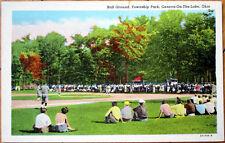 1940s Postcard: Baseball Field, Township Park - Geneva-On-The-Lake, Ohio OH