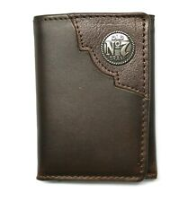 Jack Daniels Distillers Choice Trifold Wallet with Concho - Dark Brown - New