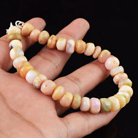 107.40 CTS NATURAL RICH PINK AUSTRALIAN OPAL UNTREATED ROUND BEADS BRACELET