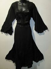 Christmas Dress Fits XL 1X Plus Black Corset Lace Up Chest Empire Waist NWT 5223