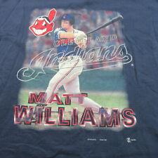 Vintage 90s 1997 Matt Williams T Shirt Cleveland Indians Single Stitch Baseball