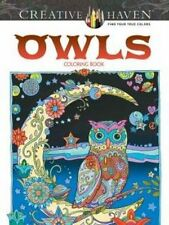 Creative Haven Owls Coloring Book: Stress Relieving, Flowers, Patterns, 30pg NEW