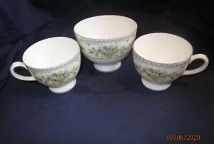 WEDGWOOD PETERSHAM R4536 2 TEA CUPS AND A SUGAR BOWL IN ORIGINAL BAGS