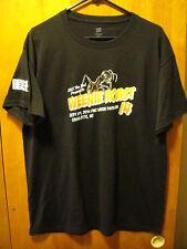 Weezer 2014 Charlotte Nc Weenie Roast Concert Tour T Shirt Large Black