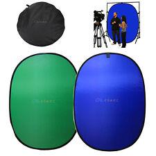 5x7FT Background Panel Photo Studio Reversible Backdrop Popup Blue Green Screen