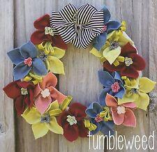 Tumbleweed Corona-patrón de Costura Artesanal-Decoración de navidad de fieltro de Pascua