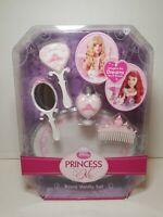 Disney Princess & Me Royal Vanity Set Brush Mirror for Doll Toys  NIB