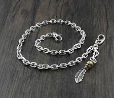 Never Fade Stainless Steel gold skull pendant key jean wallet chain CS40