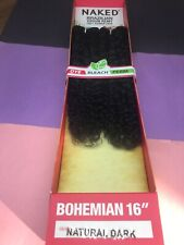 "SAGA NAKED BOHEMIAN BRAZILIAN VIRGIN REMY_100% HUMAN HAIR_16""_#NATURAL DARK"