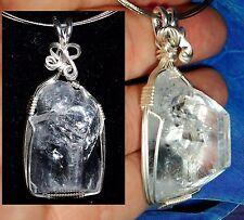 Apophyllite Point-Forward TRUTH 3rd Eye Handmade Sterling Silver Reiki Pendant