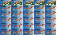 ENVOI AVEC SUIVI EUNICELL 50 Piles bouton AG1 LR621 164 364 531  1,5 VOLT