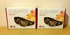More details for boxed lg 3d glasses ag-s110 for lg 3d ready tv rechargeable black active shutter